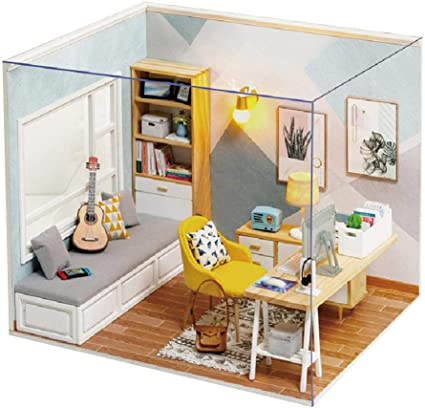 Casa De Montaje De Estudio Sunshine Mini Casa De Muñecas En Miniatura De Empalme Kit De