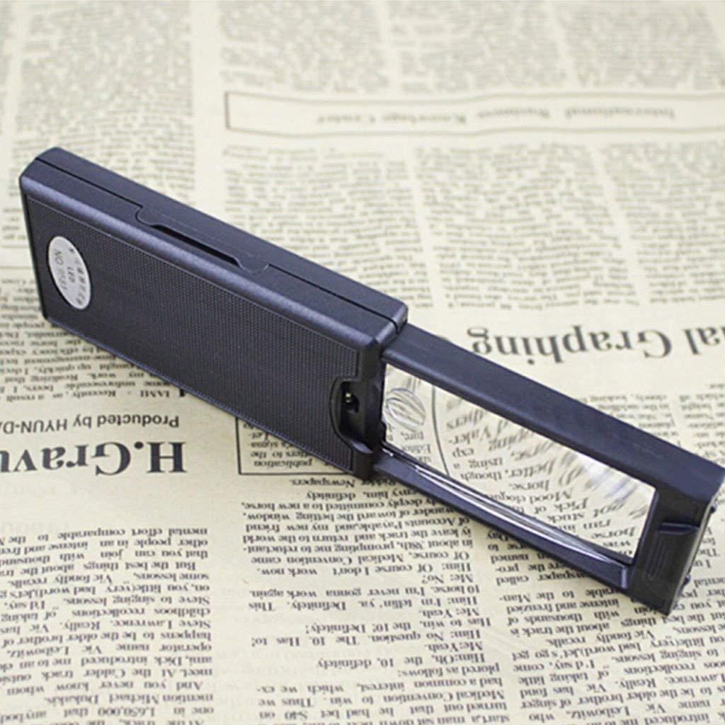 Eeayyygch Tirando de una Gran Lupa portátil Lupa de Lectura Lupa de Gran una Aumento Lupa de luz LED (Color : -, tamaño : -) 3a2c4c