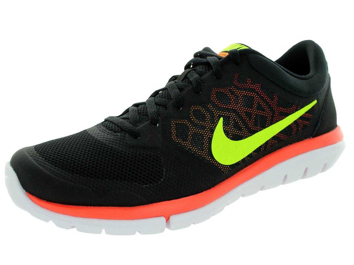 Nike Flex 2015 RN Zapatillas de Running, Hombre 44 EU|Black/Volt/Lsr Orng/Brght Ctrs