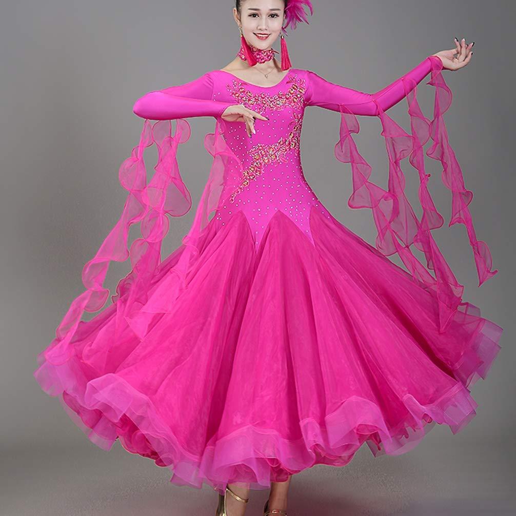 Wangmei Ballsaal Tanzn Wettbewerb Kleider für Frauen Performance Kostüm Kostüm Kostüm Tüll Strasssteine Modern Walzer Tanzrock Zumba Tango Tanz-Outfit B07GQYFW2N Bekleidung Leidenschaftliches Leben 72768a