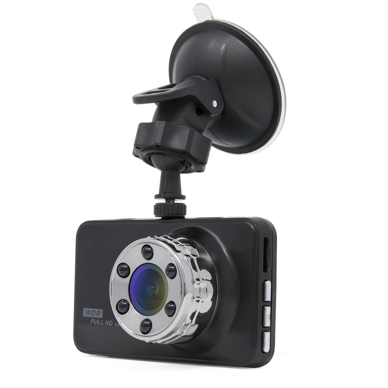 HDR Dashcam Full HD Autokamera 1080P 170/° Weitwinkelobjektiv Bewegungserkennung G-Sensor 3 Zoll LCD-Bildschirm Nachsicht