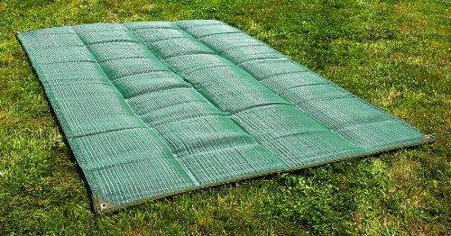 Camco Durable Reversible RV Awning Mat- Mildew and Rust Resistant Help Prevents Dirt From Being Tracked - Perfect for Beaches and Picnics 6' X 9'- Green (42880) by Camco (Image #2)