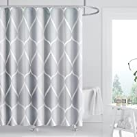 FYY Shower Curtain, 72 x 72 Inch Heavy Duty Waterproof Fabric Shower Curtain with Rust-Resistant Metal Grommets and 12…