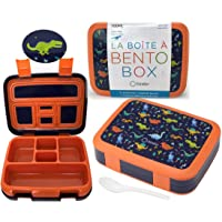 Dinosaur Bento Lunch Box for Boys Toddlers, 5 Portion Sections Secure Lid, Microwave Safe BPA Free Removable Plastic…