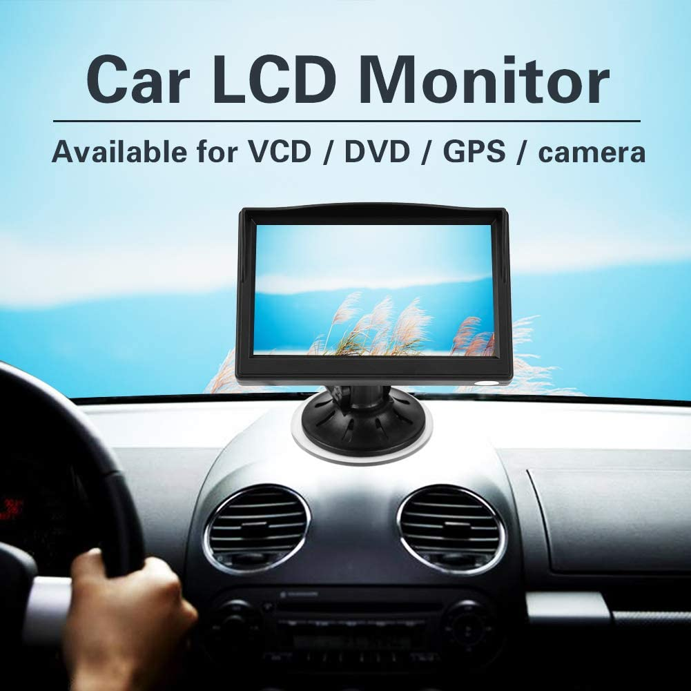 5 Reversing Monitor Wireless Parking Monitor Backup Camera TFT LCD GPS Rotatable Screen With Stand Holder