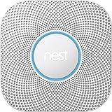 Nest S3000BWES Nest Protect 2nd Gen Smoke + Carbon Monoxide Alarm, Battery (Battery)