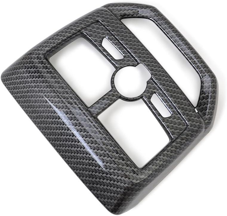 kadore Auto R/ücksitz Entl/üftung Auslassabdeckung Verkleidung f/ür Peugeot 3008 GT Line 2016-2019 ABS Carbon Fiber Style