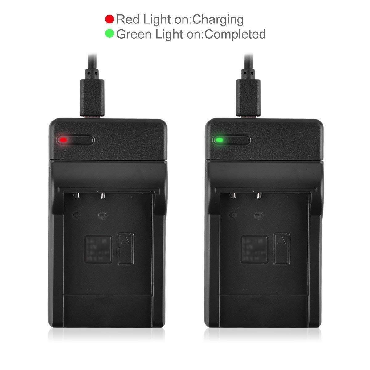 FDR-AX700E Handycam Camcorder FDR-AX100E FDR-AX700 Battery 2 Pack and LCD USB Battery Charger for Sony FDR-AX100