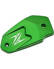 Motociclo CNC Aluminium Tappo del Serbatoio del Liquido del Freno Anteriore per Kawasaki Z900 2017 Z800 2013-2016 Z650 2017 Versys650 2007-2017 ER6N 2009-2016 ER6F 2009-2016 Ninja650 (Verde)