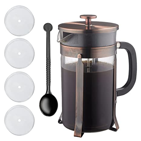 Amazon.com: LinTimes Cafetera francesa de 34 onzas, 8 tazas ...