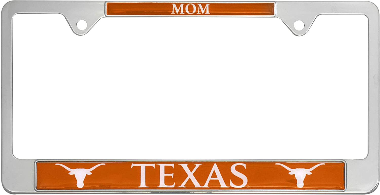 Texas AMG Auto Emblems All Metal NCAA Collegiate MOM License Plate Frame