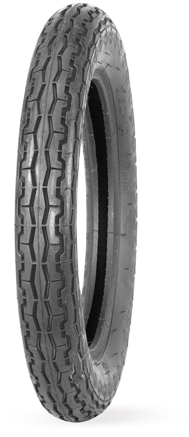 IRC MB8 Tire - Front - 2.50-10 , Position: Front, Rim Size: 10, Tire Application: General, Tire Size: 2.50-10, Tire Type: Street, Tire Construction: Bias, Tire Ply: 4 129701