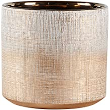 "Rivet Rustic Textured Stoneware Planter, 6.25""H, Bronze"