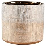 Rivet Rustic Textured Stoneware Planter, 6.25''H, Bronze
