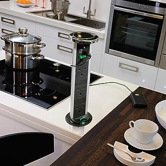 Kengo Pop Up-Steckdosenleiste, versenkbare Steckdose für ...