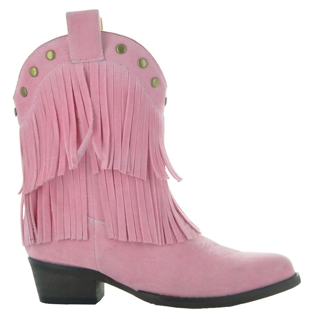Little Kids Fun Fringe Brown Cowgirl Boots by Country Love Boots (11.5 Little Kid, Pink) by Country Love Boots (Image #4)