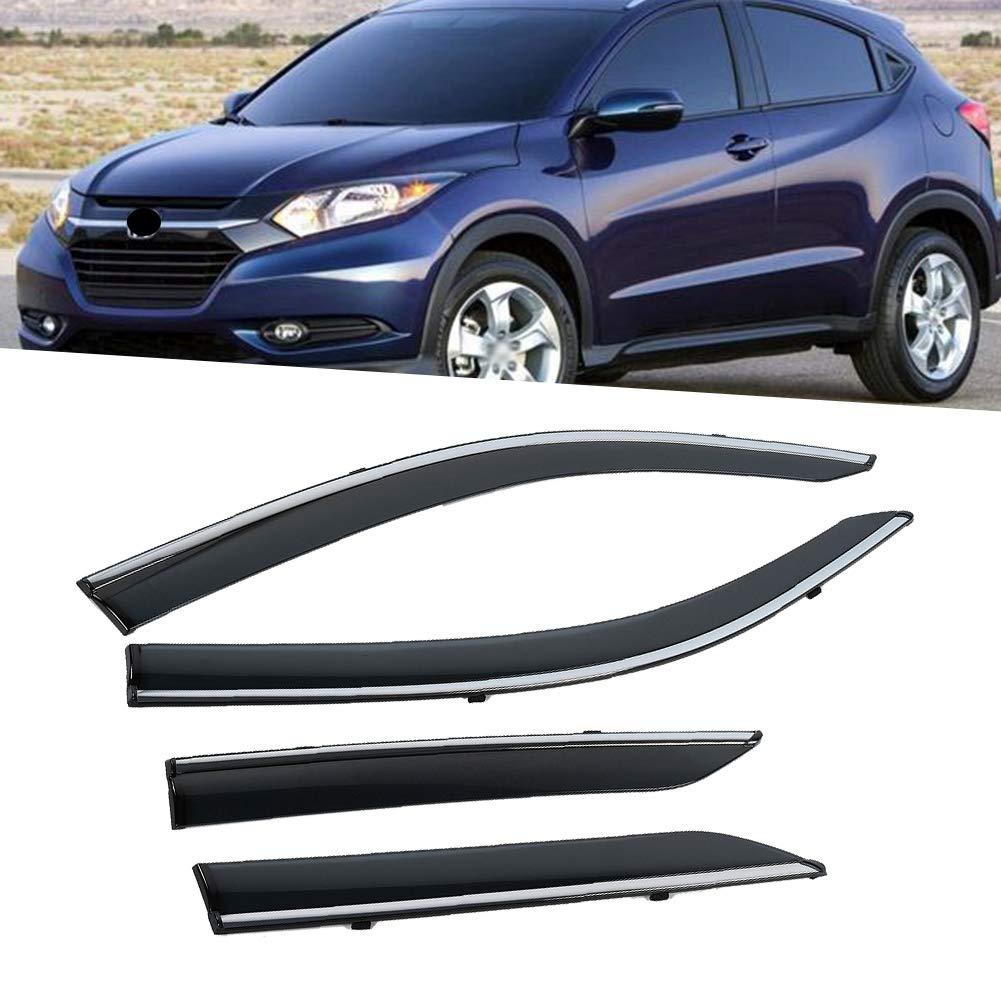 humo KIMISS 4pcs Smoke Window Visor Vents Sun Shade Rain Guard Deflectores para CHR 2017-2018