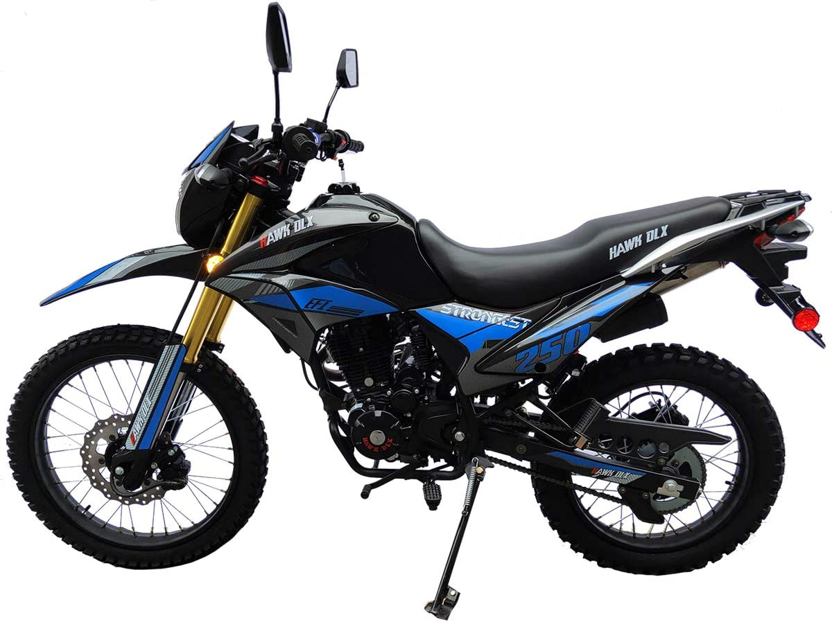X-Pro Hawk DLX 250 EFI Dirt Bike Motorcycle Bike Hawk 250 DLX Dirt Bike Street Bike Motorcycle,Blue