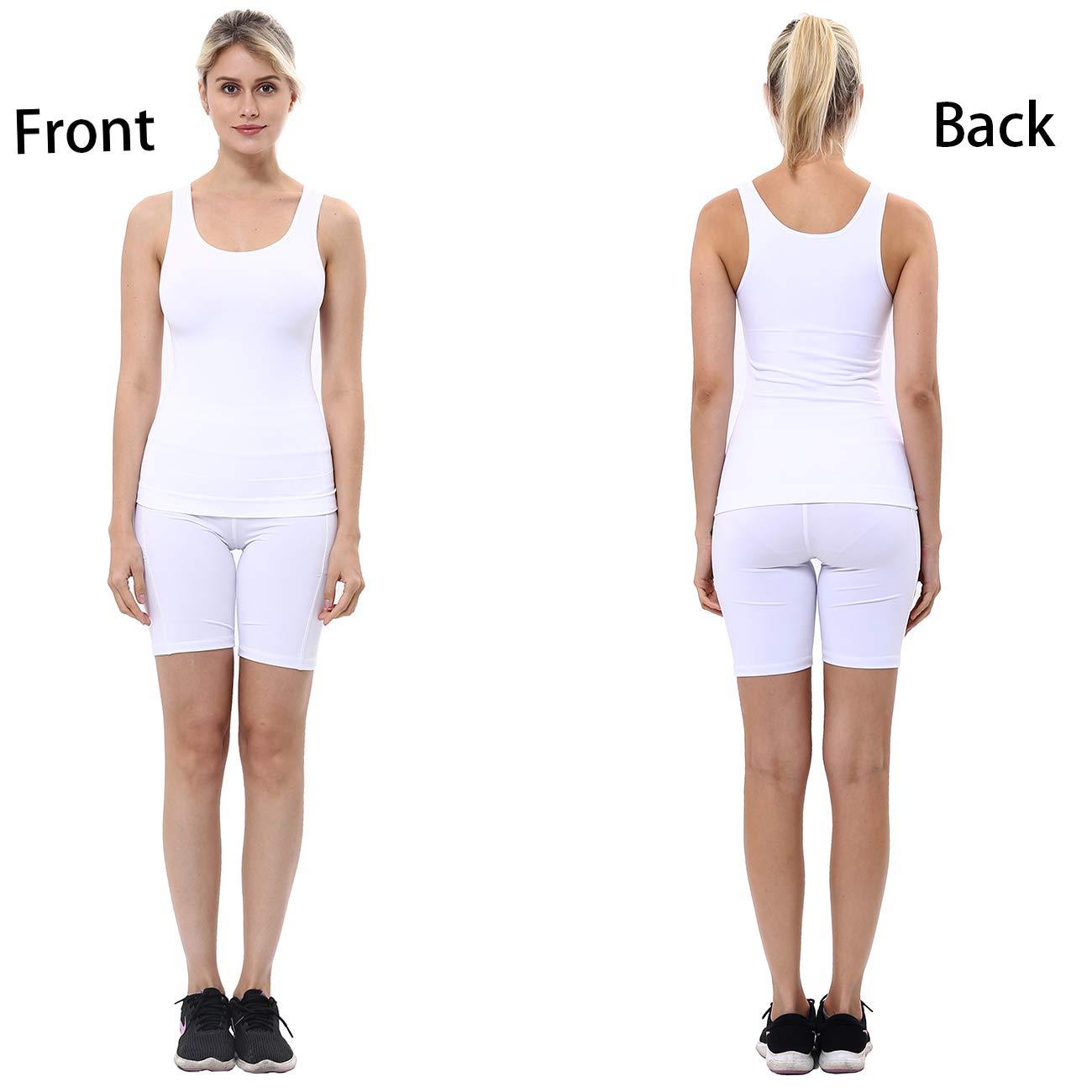 unilane Women Cami Shaper Tank Top Body Shapewear Firm Tummy ...