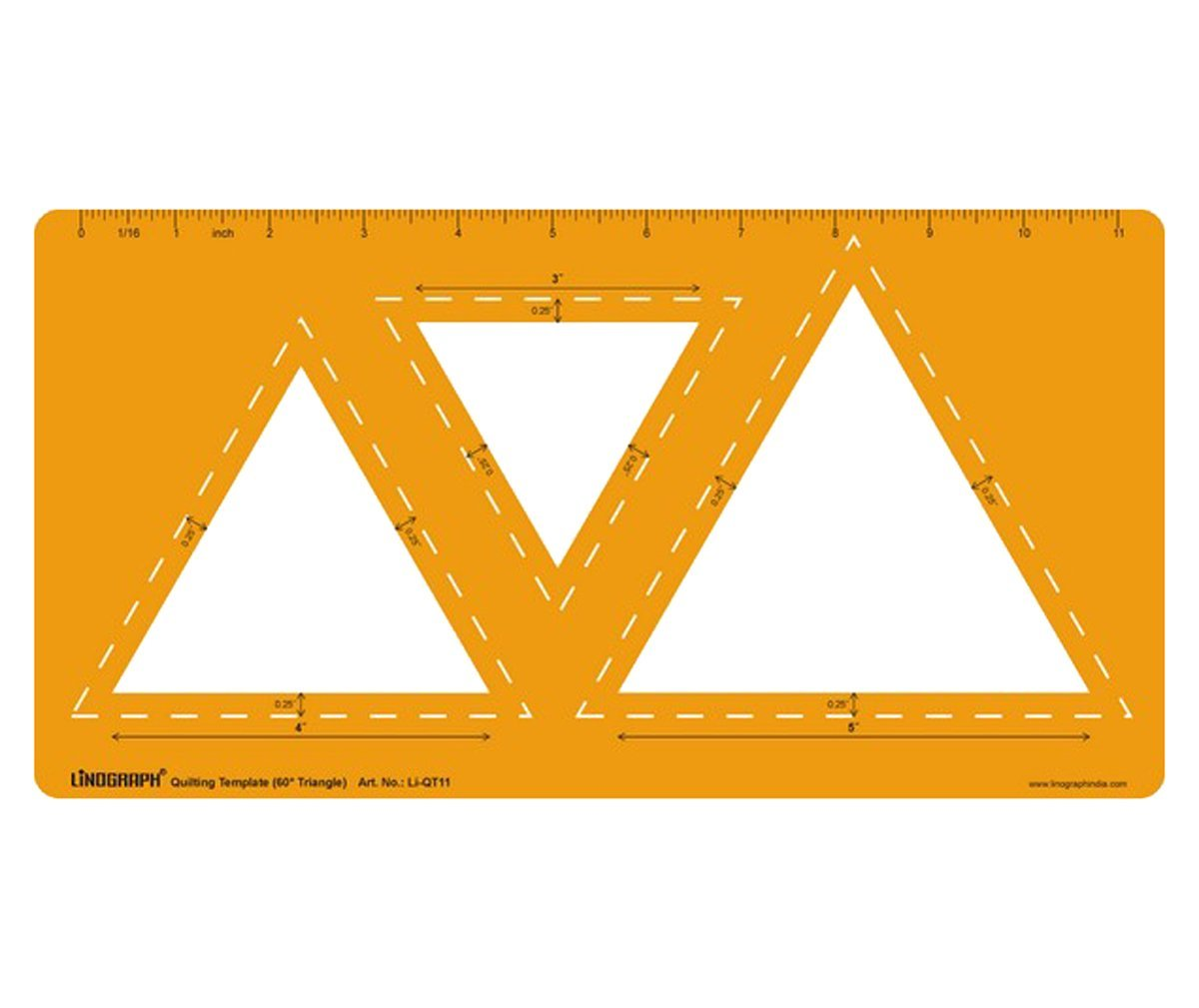 60° Triangle Quilting Template Ruler Patchwork Quilt Stencil LINOGRAPH