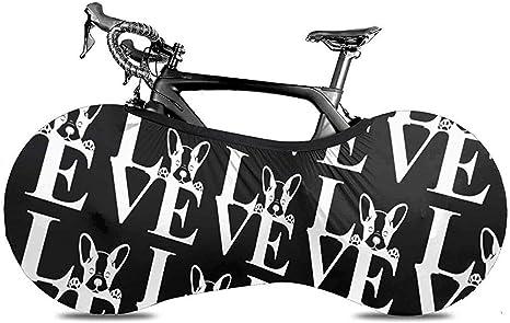 HUA Cubierta de Bicicleta Love French Bulldog-1 Cubierta de Polvo ...