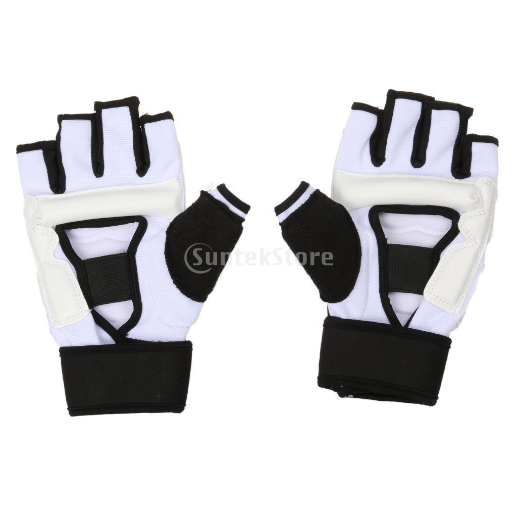 Freefight Kampfsport Handschutz Muay Thai Training Sandsack Boxsack Gazechimp F/ür Kinder // Erwachsene Halbe Finger Handschuhe f/ür Boxen