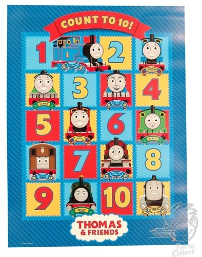 ((18 x 24) Thomas the Tank Engine Count to Ten quality poster)