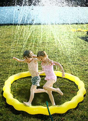 Splashinkids 68 Sprinkle and Spray Play Ring Toy Splash for Infants Toddlers and Kids - Perfect Inflatable Outdoor Water Sprinkler