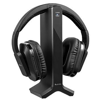 AudioMX hg-21b RF – Auriculares de diadema inalámbricos para TV con 2,4