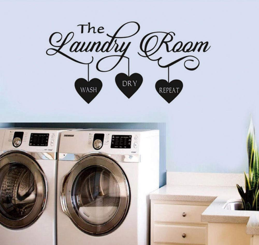 Laundry Room Decor It Will All Come Out In The Wash Vinyl Wall Art Quote Home Garden Kids Teens At Home