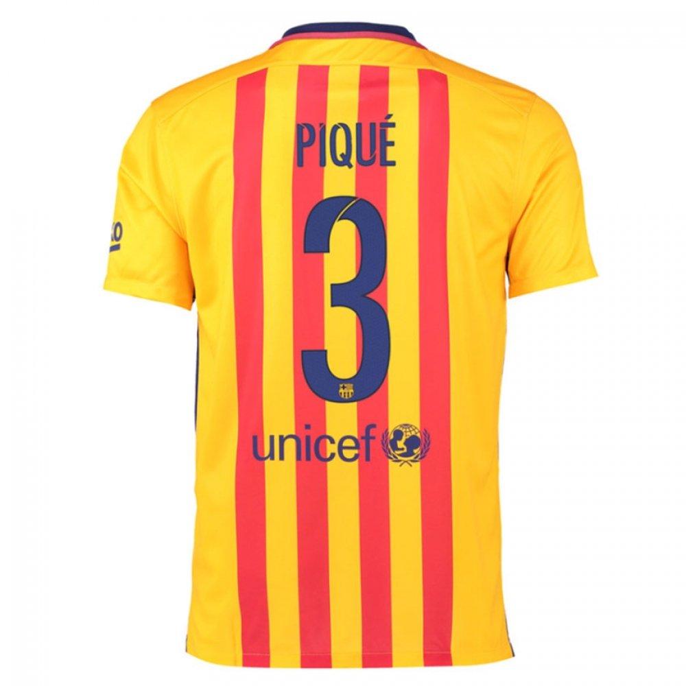 2015-16 Barcelona Away Shirt (Pique 3) Kids B077VKLY1YRed XLB 32-35\