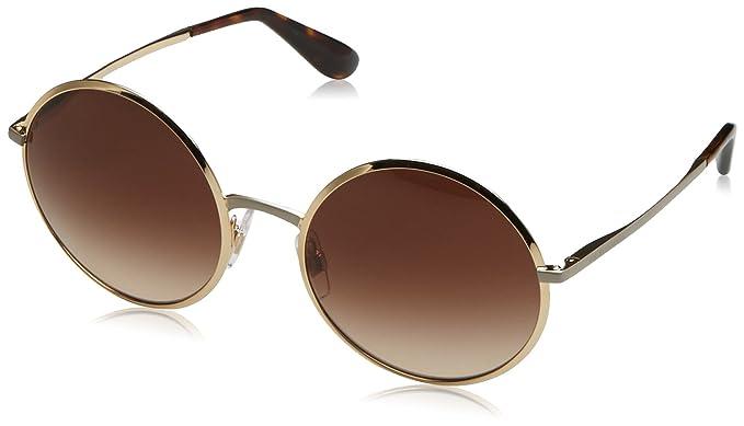 Womens 0DG2155 12945R Sunglasses, Matte Pink Gold/Darkgreymirrorpink, 56 Dolce & Gabbana