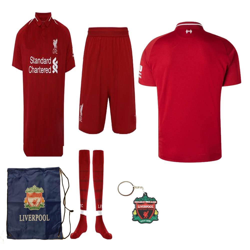 2d33dbc41 Amazon.com   Liverpool English Premier League 2018 19 Replica Mohamed Salah  Kid Jersey Kit   Shirt