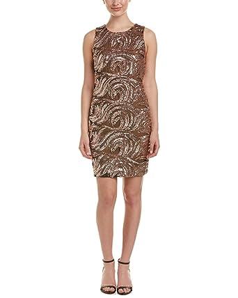 bfc77331a08 Belle Badgley Mischka Womens Jamielynn Sleeveless Mini Cocktail Dress Pink 2