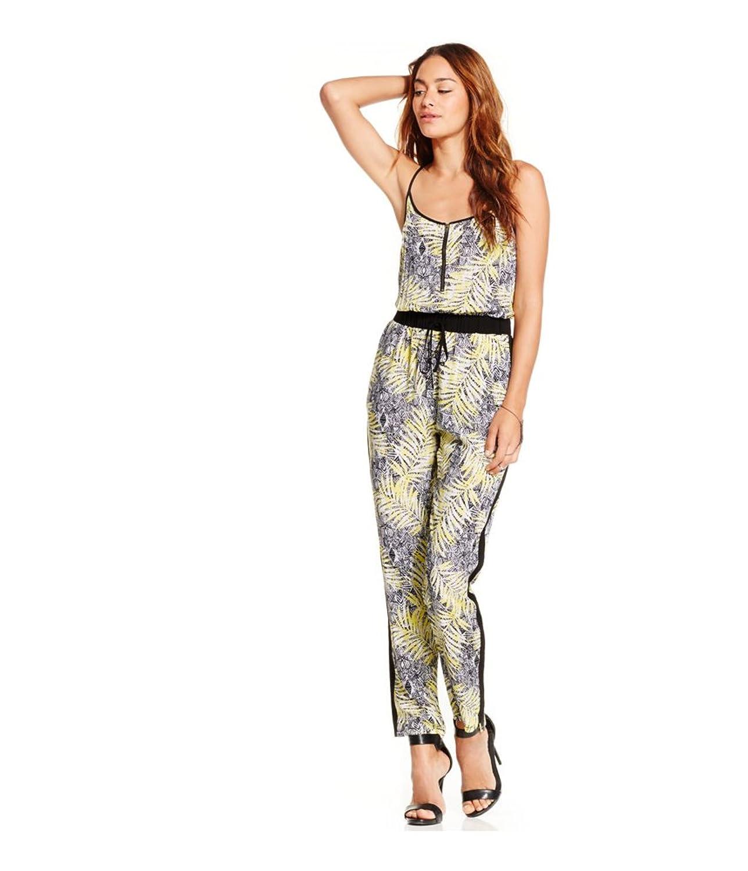 Material Girl Womens Printed Straight Leg Jumpsuit
