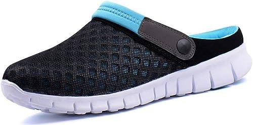 Hommes de Piscine Jardin Perforés Chaussures Mules Sandales de Sabot Pantoufles Sport Femmes D'Été Respirant Plage Sabots Chaussures clK3JFT1