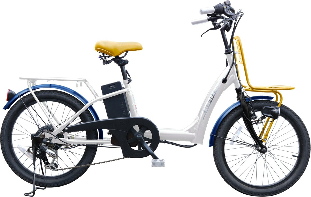 Airbike 電動アシスト自転車 20インチ トルクセンサー式 型式認定モデル 459 B0788Z1FLJ ホワイト ホワイト