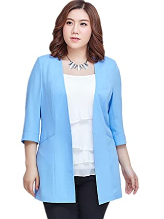 d286a8836bdf8 LJYH New Plus Size Summer Suit 5XL Women Blazer at Amazon Women s Clothing  store
