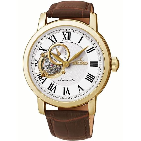 Seiko Reloj Analógico Automático para Hombre con Correa de Cuero - SSA232K1: Amazon.es: Relojes