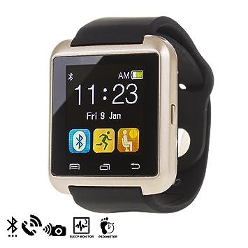 DAM - U80 Bluetooth Watch Gold: Amazon.es: Electrónica