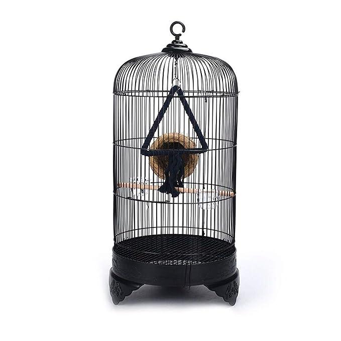 Jaula Grande Redonda para pájaros, Metal, Periquito, pinzón ...
