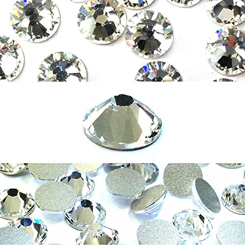 m) Clear Crystal - Flatback - 144 pcs. (1 Gross) (Non-HotFix) (Fix Swarovski Flat Back Crystal)