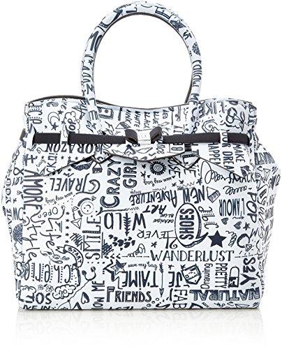 save my bag Miss 3/4, Borsa a Mano Donna, 39.5x34x19 cm (W x H x L) Multicolore (Love Words)