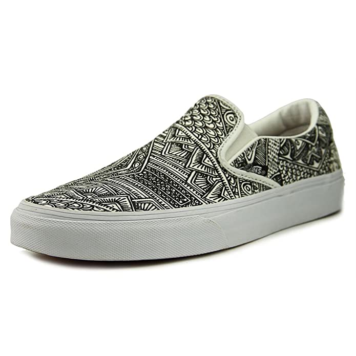 Vans Classic Slip-On Sneaker Unisex Erwachsene Muster Schwarz Weiß (OTW Gallery)