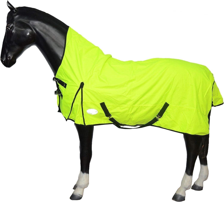 Bright in Dark Arts Home 600 Denier Half Neck Lightweight Turnout Horse Rug Waterproof Reflective Reflex 66