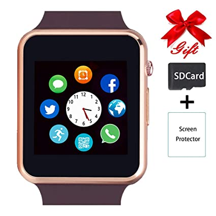 Smart Watch,Unlocked Touchscreen Smartwatch Compatible with Bluetooth/Android/IOS (Partial Functions) Call and Text Camera Notification Music Player ...