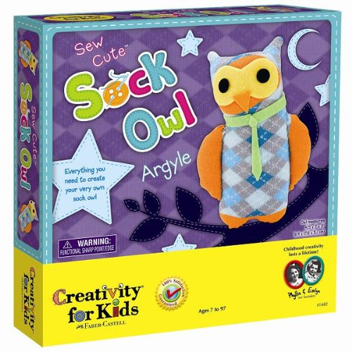 Creativity for Kids Sew Cute Sock Owl - Kid Creature Socks