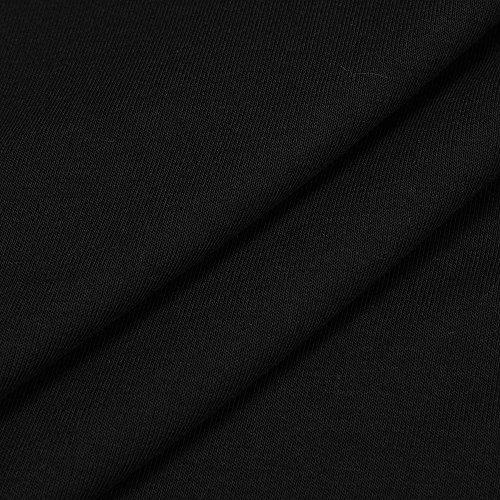 lunga rosso donna vestito donna elegante abito sciolto lunghi estate Nero abito Weant vestito forti maniche vestito lungo abiti cotone gonna nero taglie blu Abiti Casuale veste senza 8wYq5UO