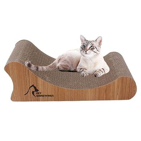 PET SHINEWINGS Rascador para gatos para cama y sofá,incluye bolsita de hierba de gato