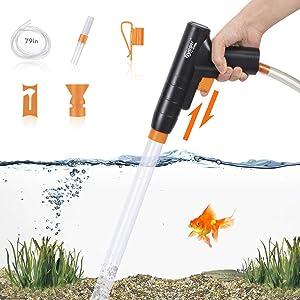 New Quick Fish Tank Gravel Cleaner, Gravel Vacuum for Aquarium and Water Changer, Aquarium Sand Cleaner Kit